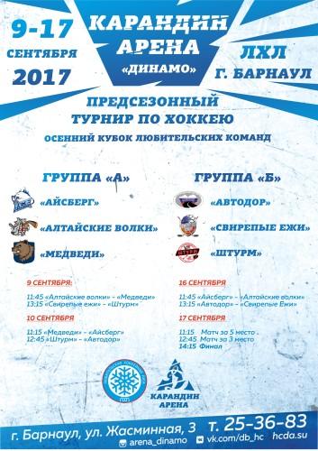 Любительская хоккейная лига Барнаула: Осенний кубок любительских команд
