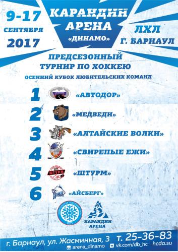 Кубок ЛХЛ 2017 результаты