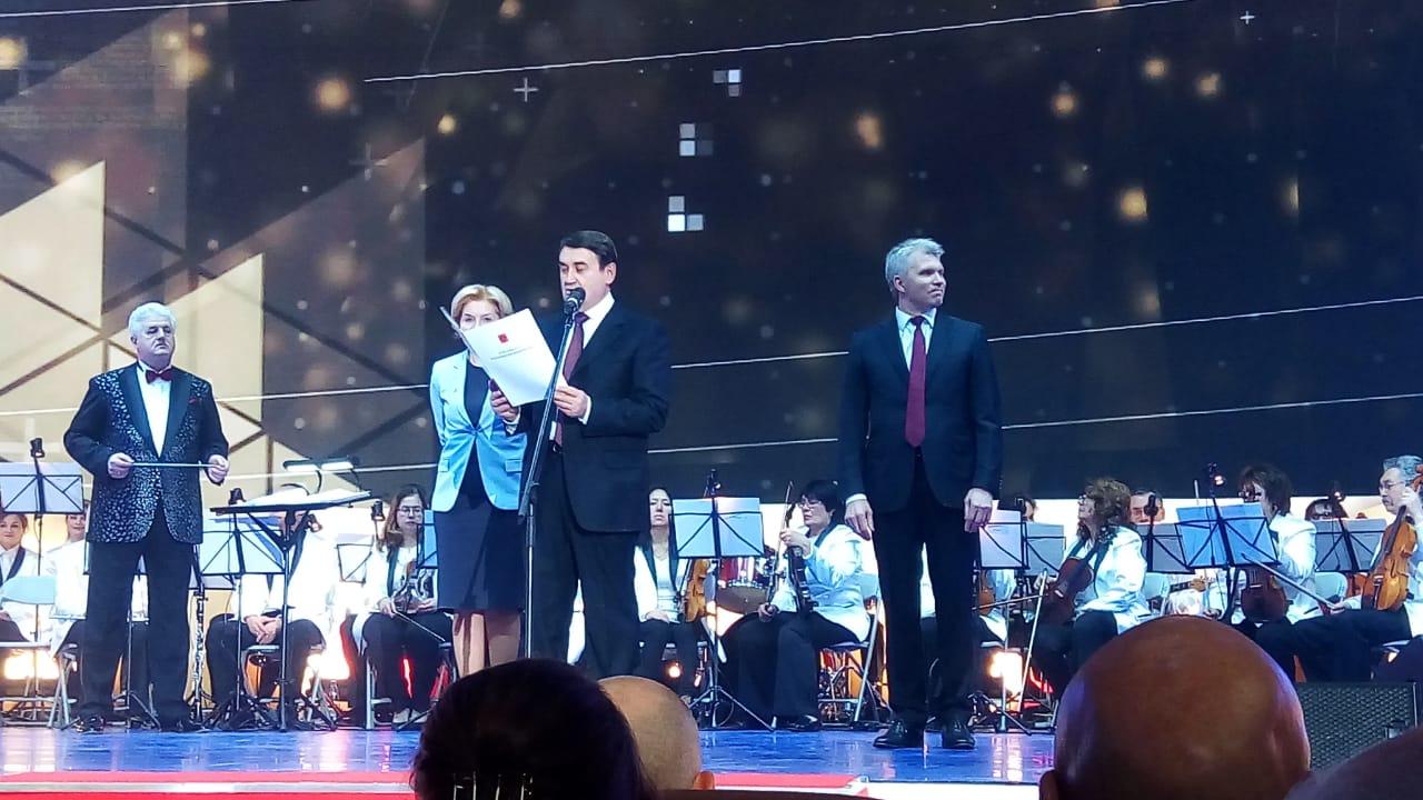 В церемонии награждения приняли участие помощник Президента Игорь Левитин, вице-премьер России Ольга Голодец, глава Минспорта Павел Колобков.